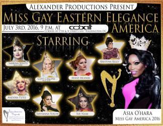 Show Ad   Miss Gay Eastern Elegance America   Cobalt (Washinton, DC)   7/3/2016