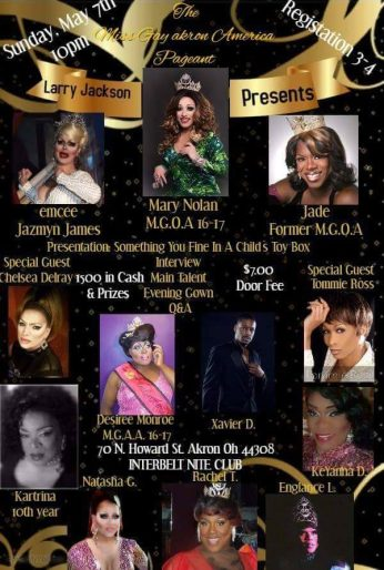 Show Ad | Miss Gay Akron America | Interbelt Nite Club (Akron) | 5/7/2017