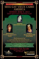 Show Ad | Miss Gay Vieux Carre America | Bourbon Pub (New Orleans, Louisiana) | 6/9/2013