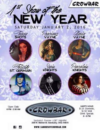 Show Ad | Crowbar (Sandusky, Ohio) | 1/2/2016