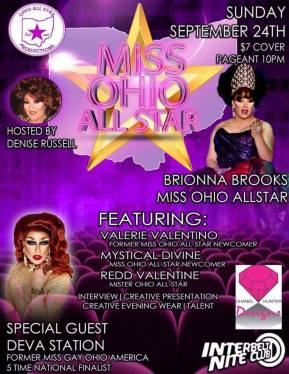 Show Ad | Miss Ohio All-Star | Interbelt Nite Club (Akron, Ohio) | 9/24/2017