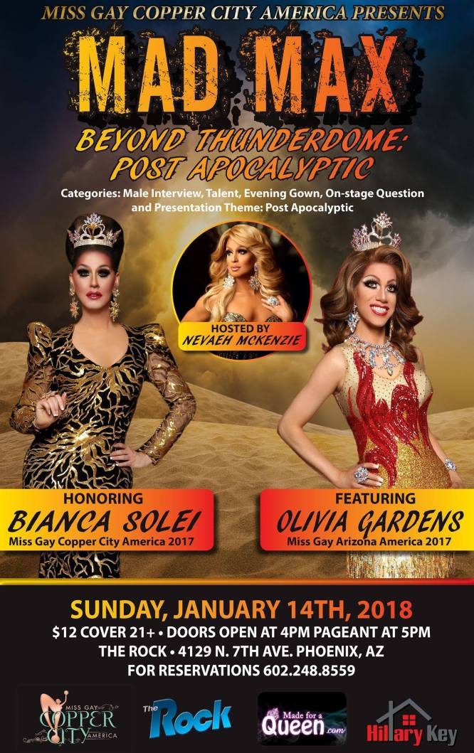 Show Ad | Miss Gay Copper City America | The Rock (Phoenix, Arizona) | 1/14/2018