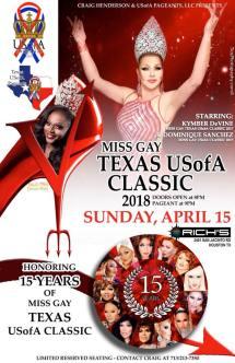 Show Ad | Miss Gay Texas USofA Classic | Rich's (Houston, Texas) | 4/15/2018