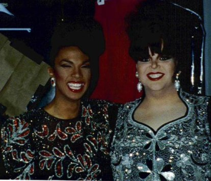 Leslie Rage and Charity Case in Washington, D.C. Circa 1991.