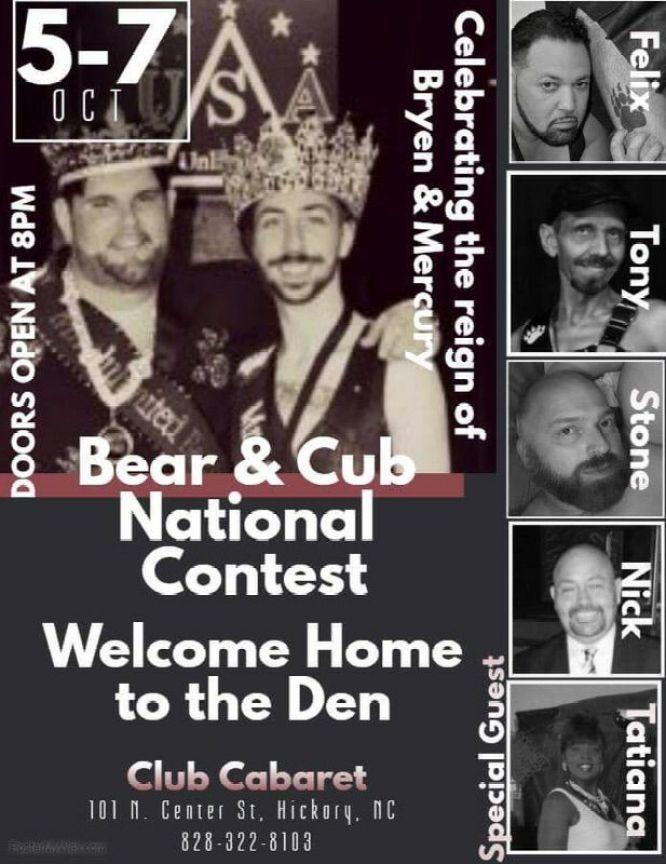 Show Ad   Mr. Unlimited Bear and Mr. Unlimited Cub   Club Cabaret (Hickory, North Carolina)   10/5-10/7/2017