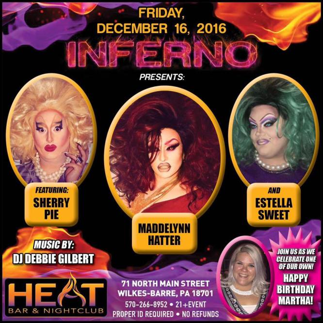 Show Ad | Heat Bar & Nightclub (Wilkes-Barre, Pennsylvania) | 12/16/2016