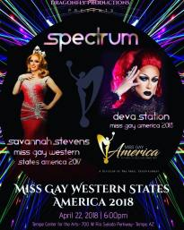 Show Ad | Miss Gay Western States America | Spectrum (Tempe, Arizona) | 4/22/2018
