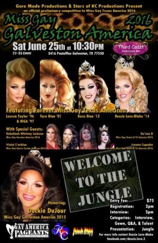 Show Ad   Miss Gay Galveston America   Third Coast Downtown Bar (Galveston, Texas)   6/25/2016