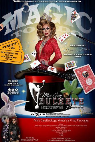Show Ad   Miss Gay Buckeye America   Axis Night Club (Columbus, Ohio)   3/18/2018