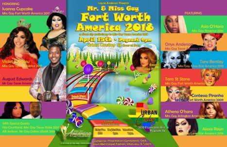 Show Ad | Miss Gay Fort Worth America and Mr. Gay Fort Worth America | The Urban Cowboy Saloon (Fort Worth, Texas) | 4/15/2018