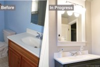 Inexpensive Bathroom Refresh | Our Corner House