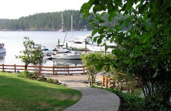 Gorge Harbour Marina Cortes Island Accommodations