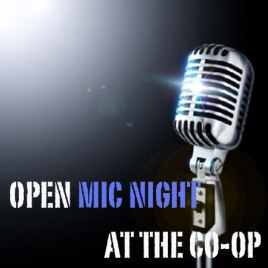 Open Mic at the Natural Food Co-op Cafe in Mansons