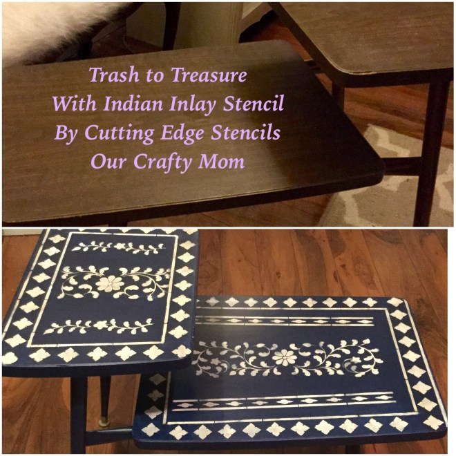 Indian Inlay Stenciled Table