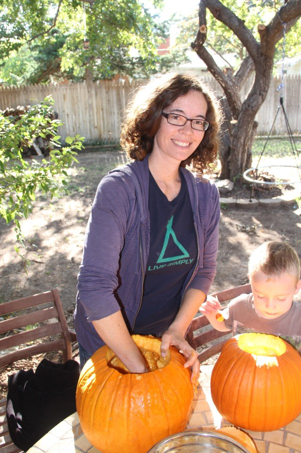 football, pumpkin carving and costumes 052