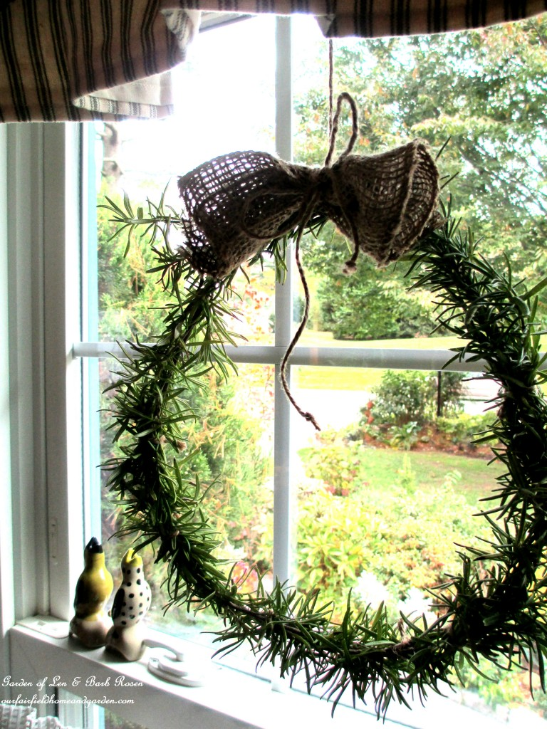 Diy Project Make A Fresh Rosemary Wreath Our Fairfield Home Garden