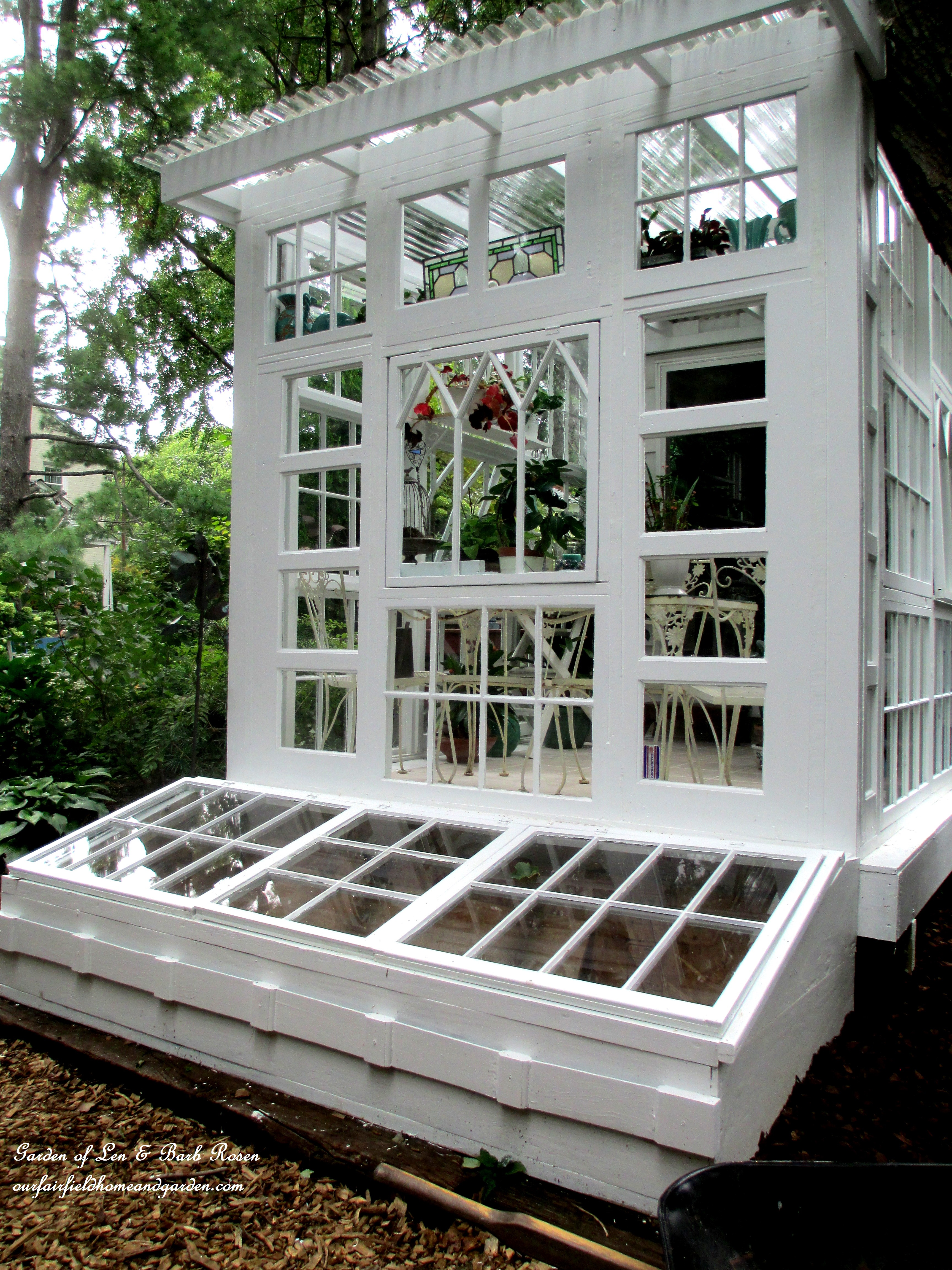 Diy Garden Window Plans Building A Repurposed Windows Greenhouse Our Fairfield