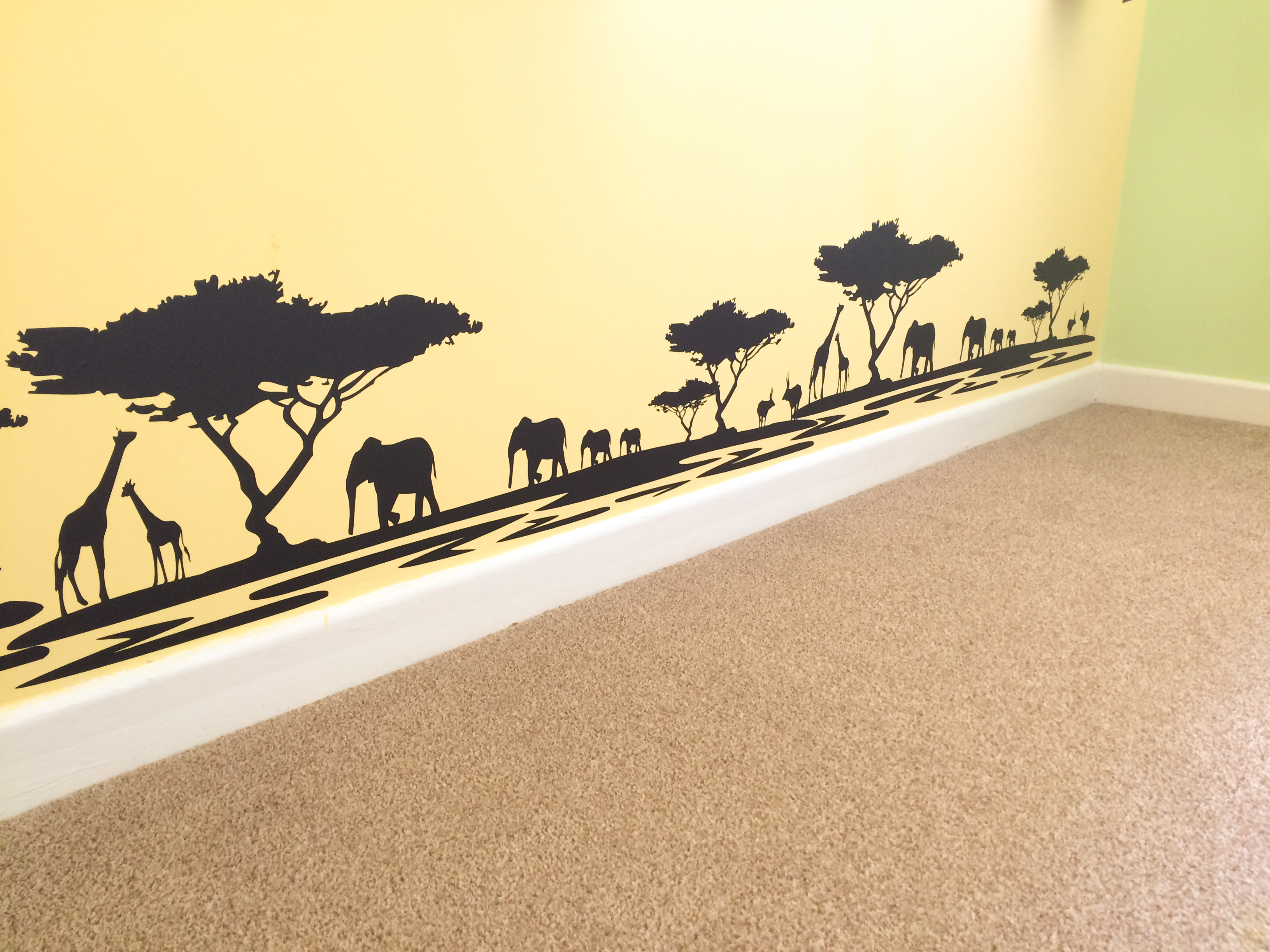Safari Silhouette Wall Decals - Elitflat