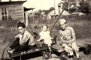 Tommy, Kookie and Charles Stanley  1945