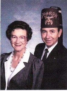 James in Shriner's Fez with Maxine