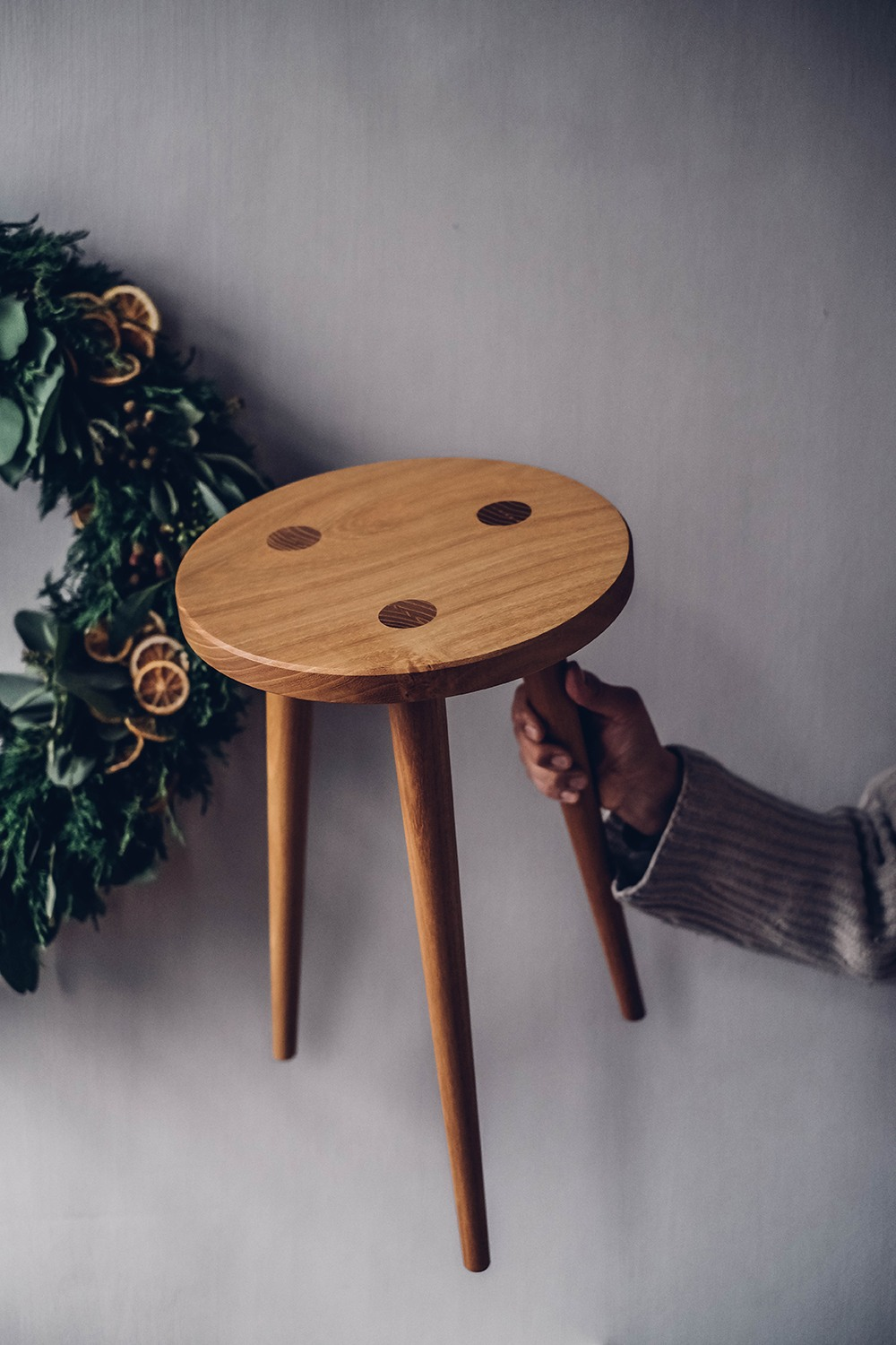 Christmas Give Away Stool Klaus Our Food Stories