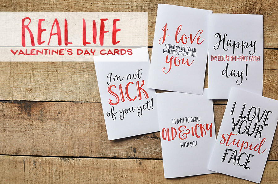 Sarcastic Valentine\u0027s Day Cards - Free Printables - Our Handcrafted Life