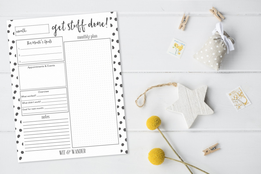 Free Printable Monthly Planner - Our Handcrafted Life - printable monthly planner