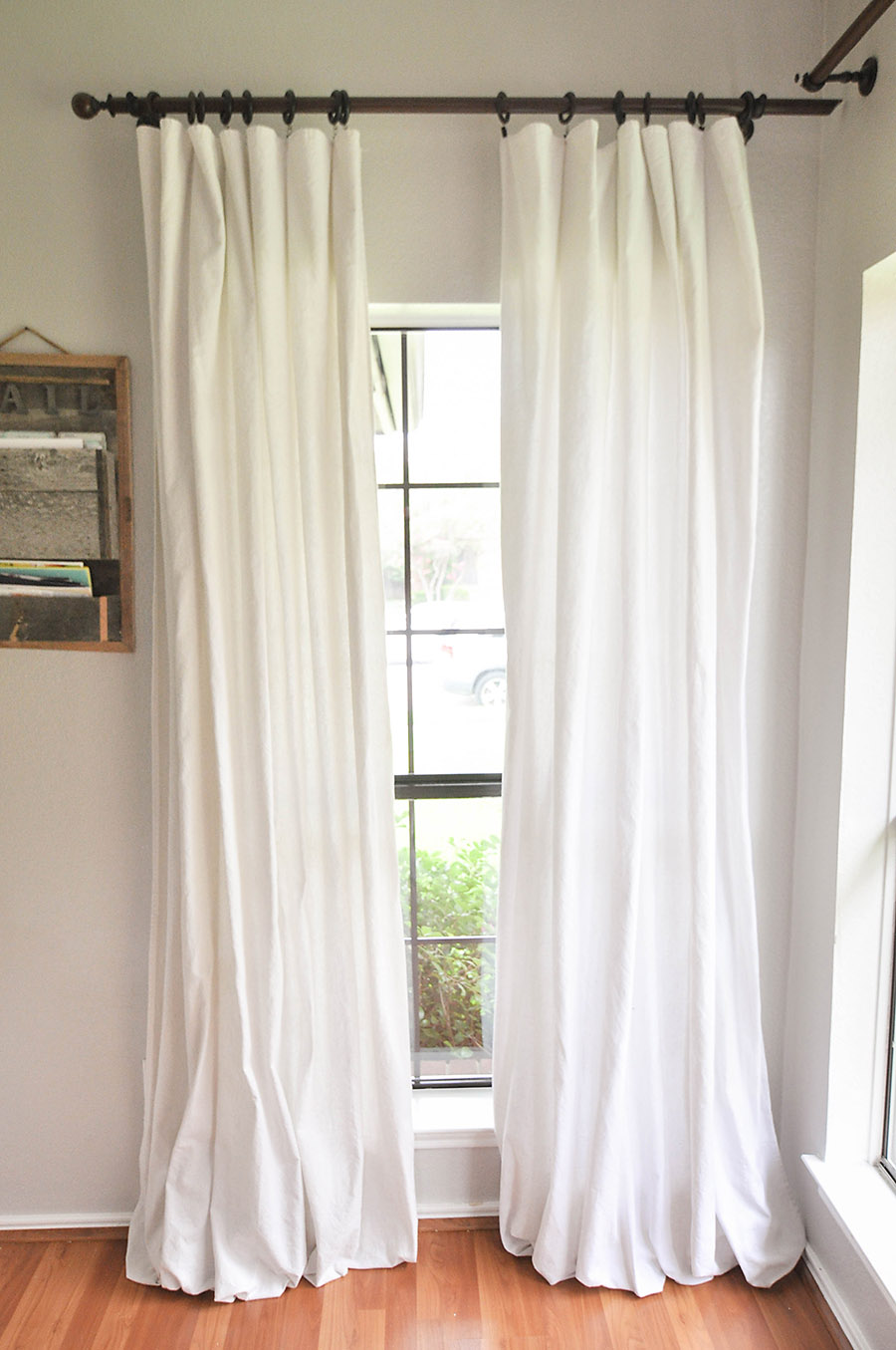 Make Curtains How To Make No Sew Bleached Drop Cloth Curtains Our Handcrafted Life