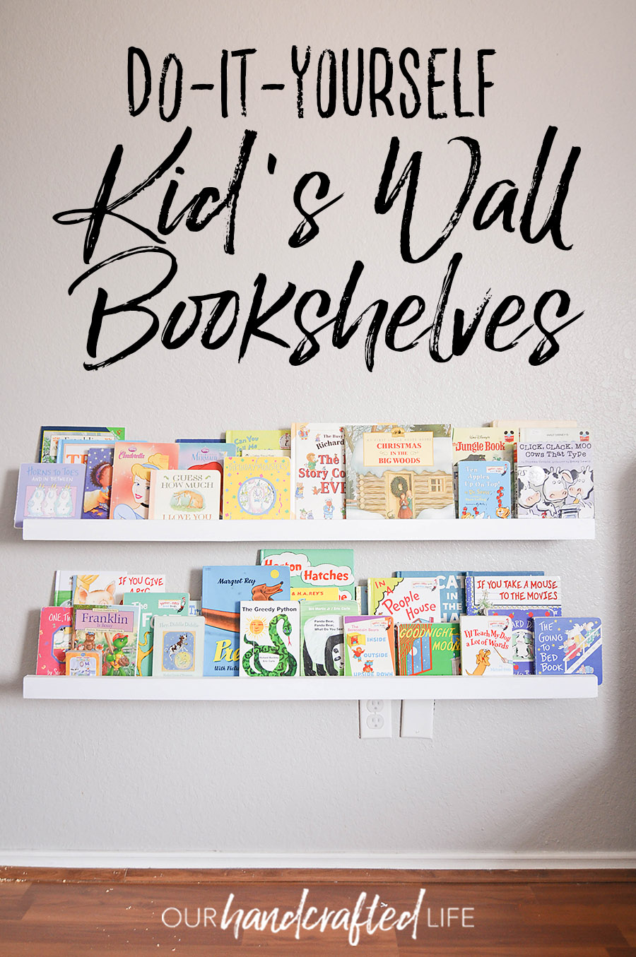 Bookshelves For Kids Diy Wall Mounted Kid S Bookshelves Our Handcrafted Life