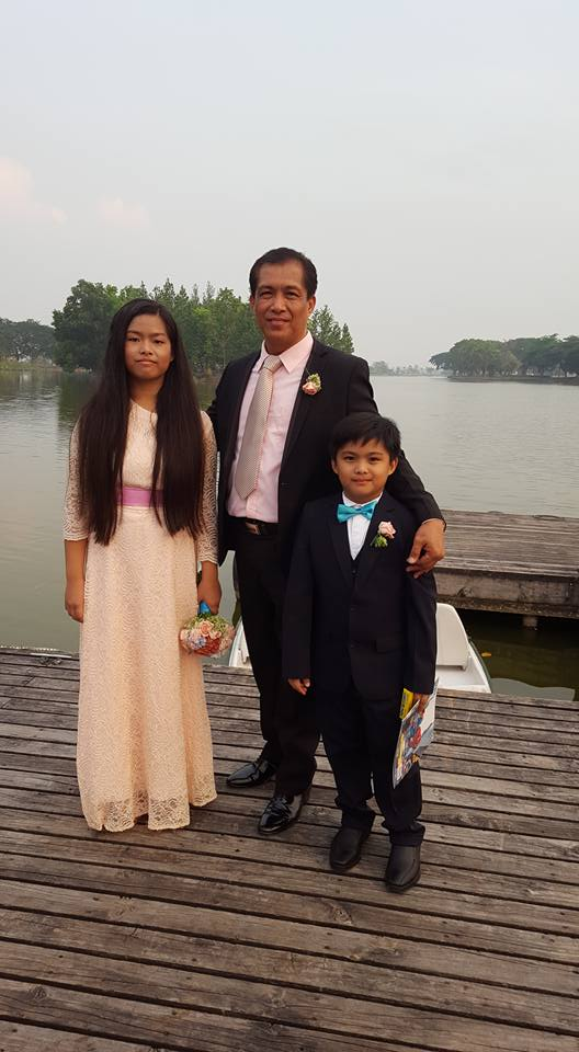 My three loves at the wedding - The Lakeshore, Pampanga.