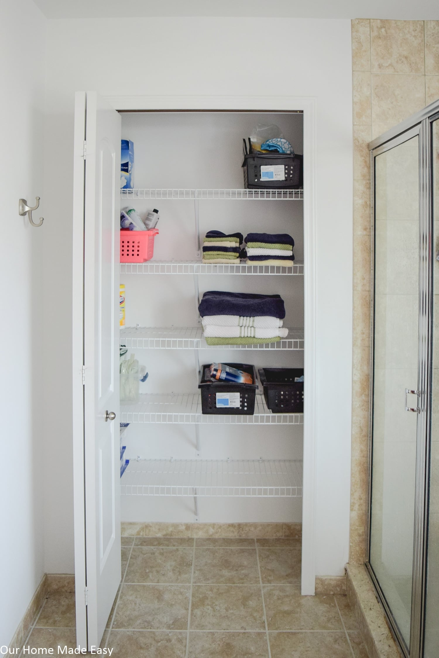 Bathroom Linen Closet Ideas Bathroom Linen Closet Reveal Our Home Made Easy