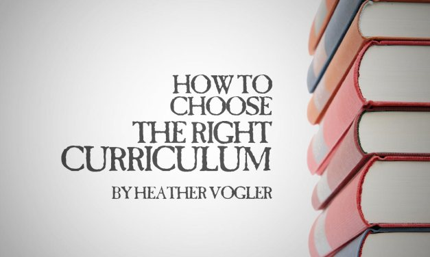 How to Choose the Right Curriculum