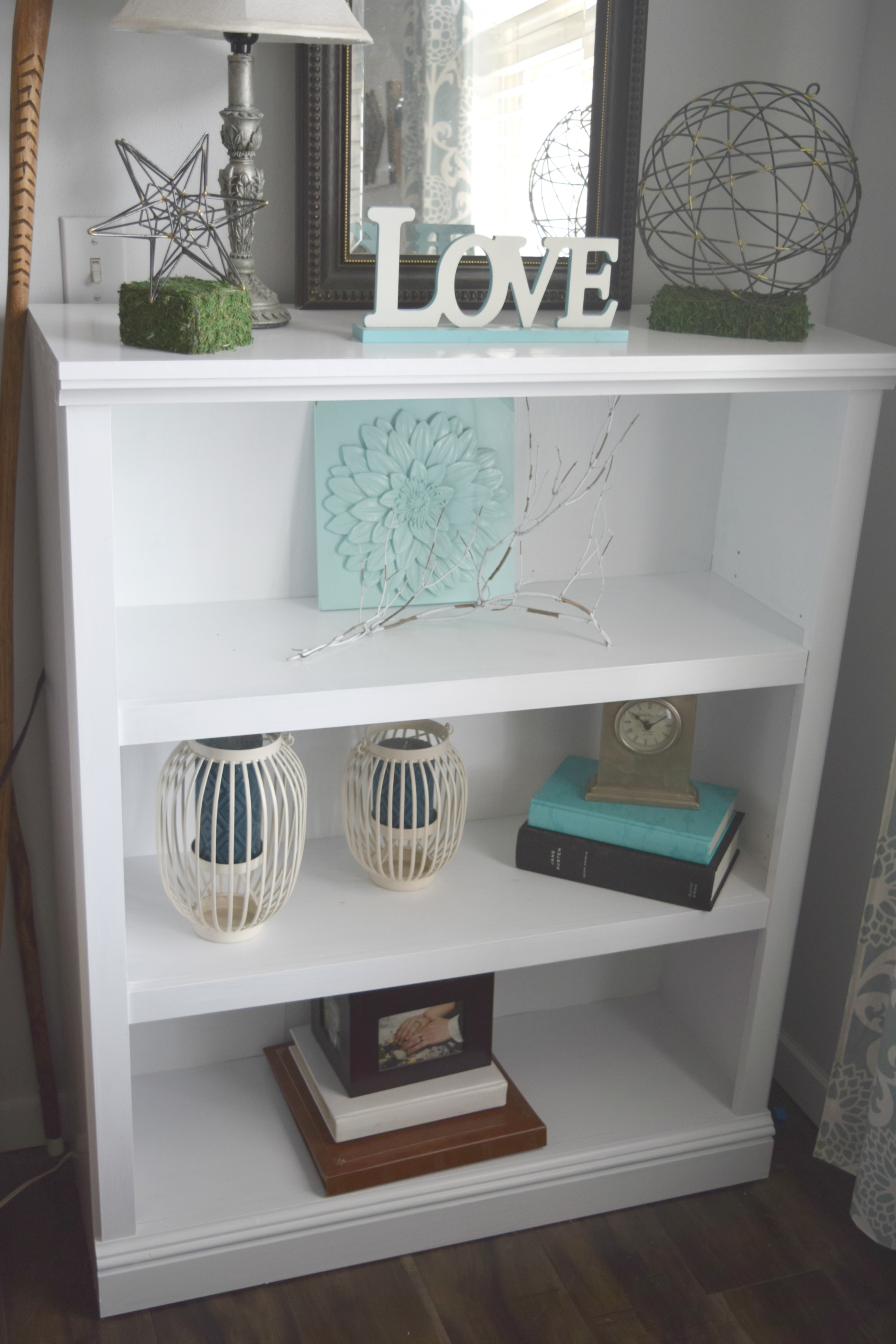 Furniture Refresh White Bookshelf
