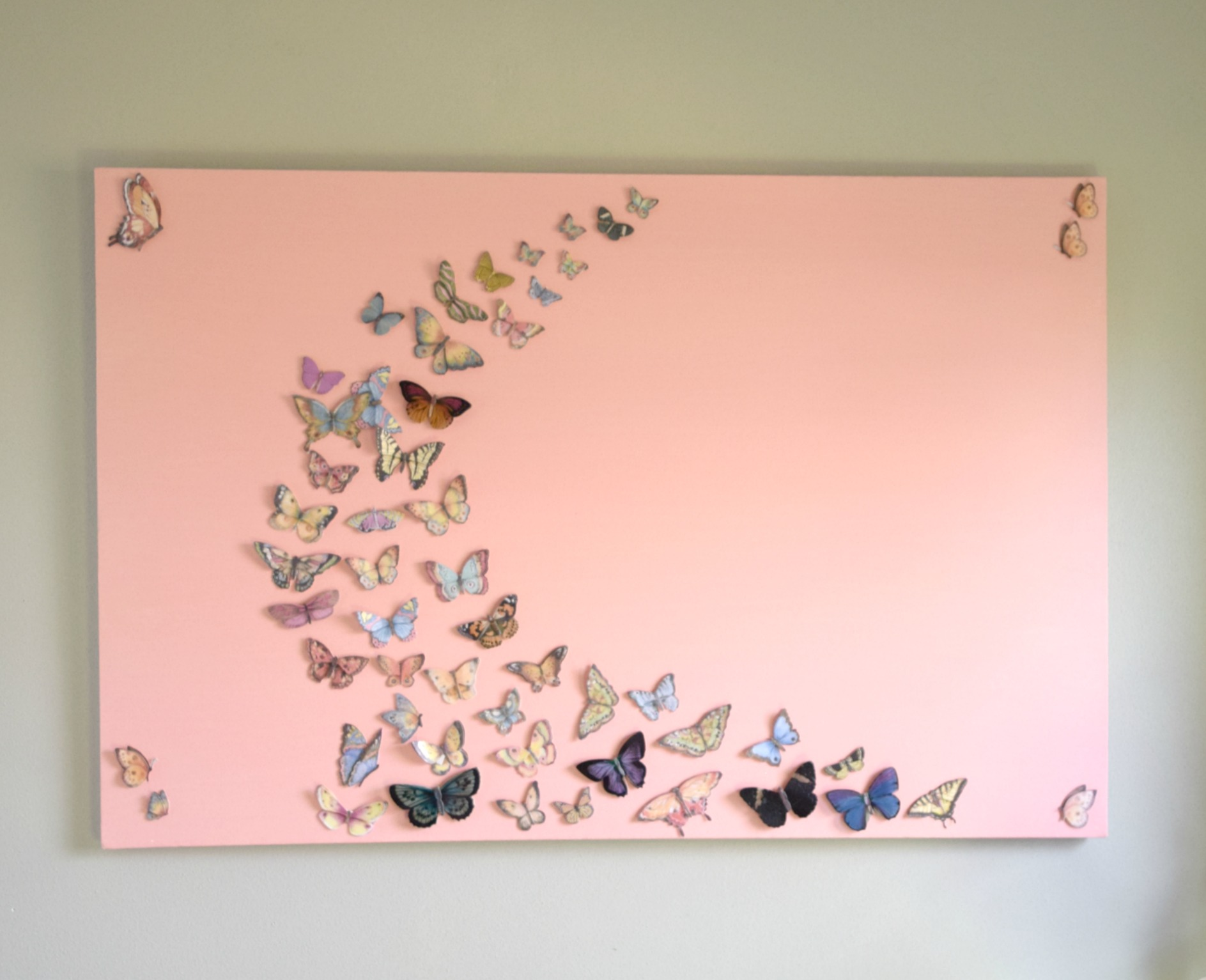 Art Decorating And Crafting Girl Bedroom Wall Art A Butterfly And Canvas Craft Our House Now