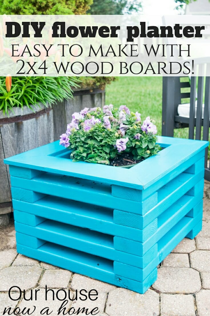 Simple Planters Easy To Make Diy 2x4 Wood Flower Planter Our House Now A Home