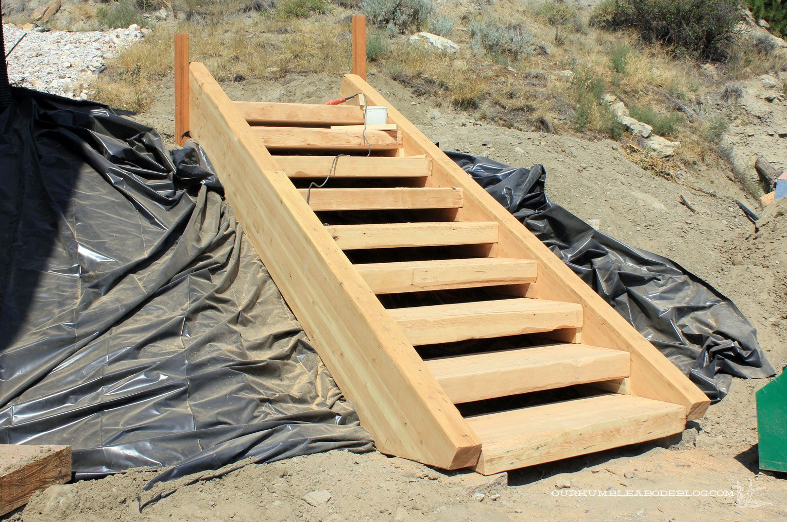 Wooden Steps How To Build Wooden Steps On A Hill