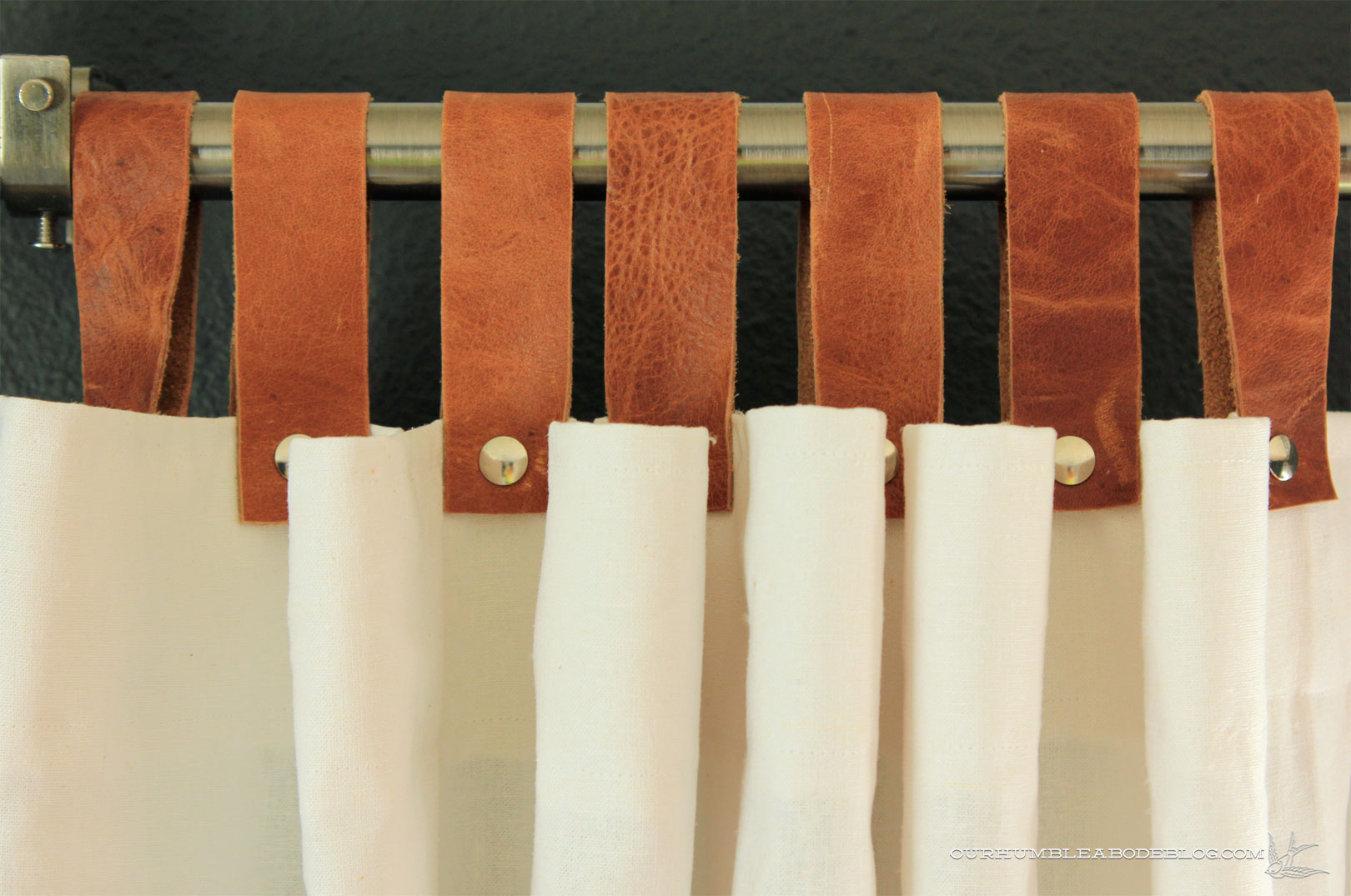 How to make tab top curtains - How To Make Tab Top Curtains Leather Tab Top Curtains Detail Download