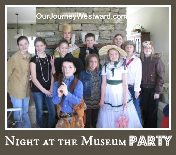Night at the Museum Co-op Party at Our Journey Westward