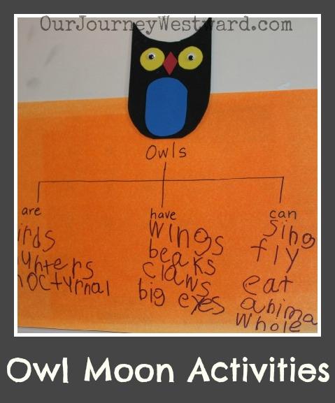 Owl Moon Activities | Our Journey Westward