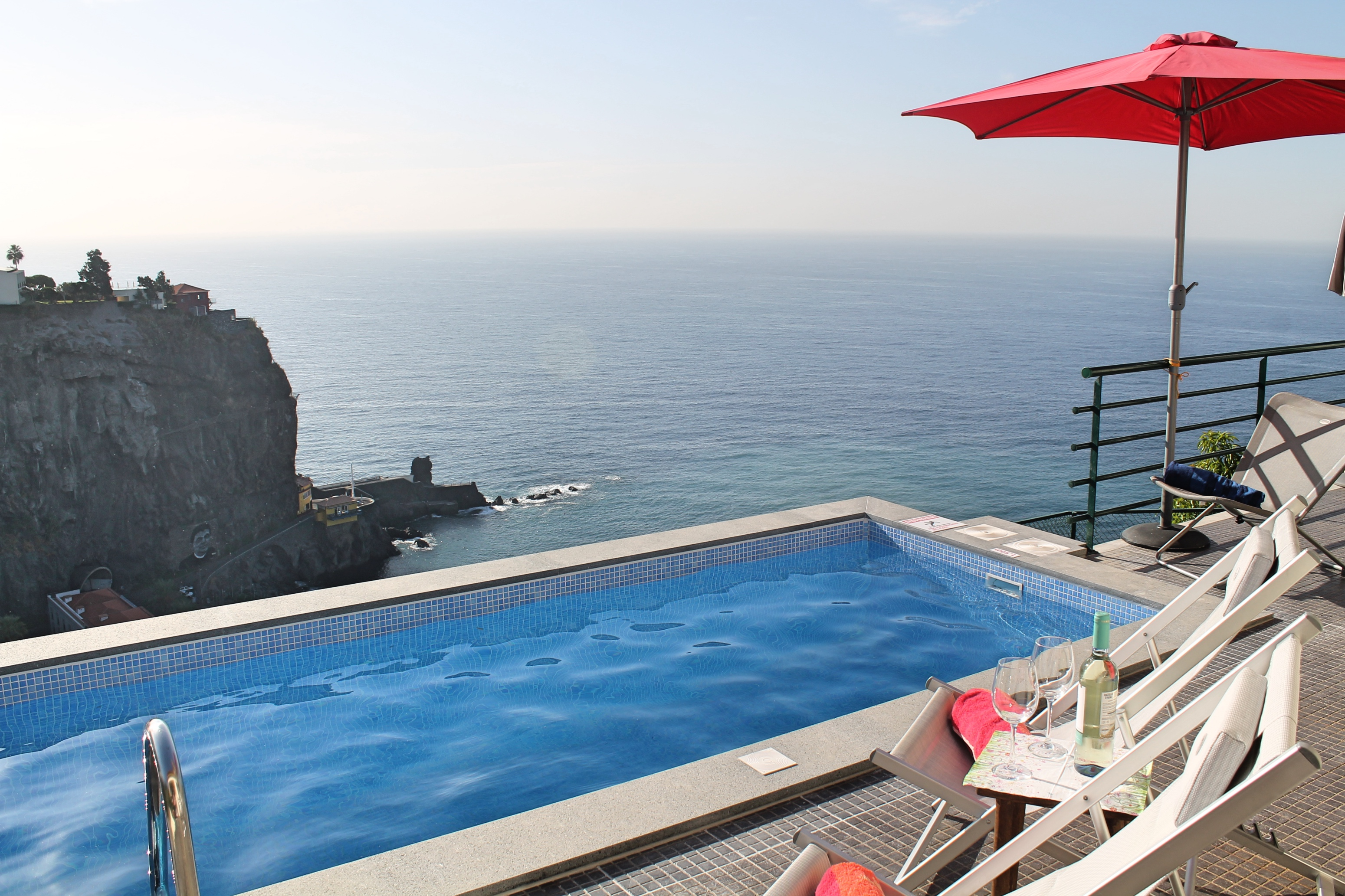 Outdoor Küche Pico Perched Above Village With Heated Pool Ocean Views Casa Jardim Mar