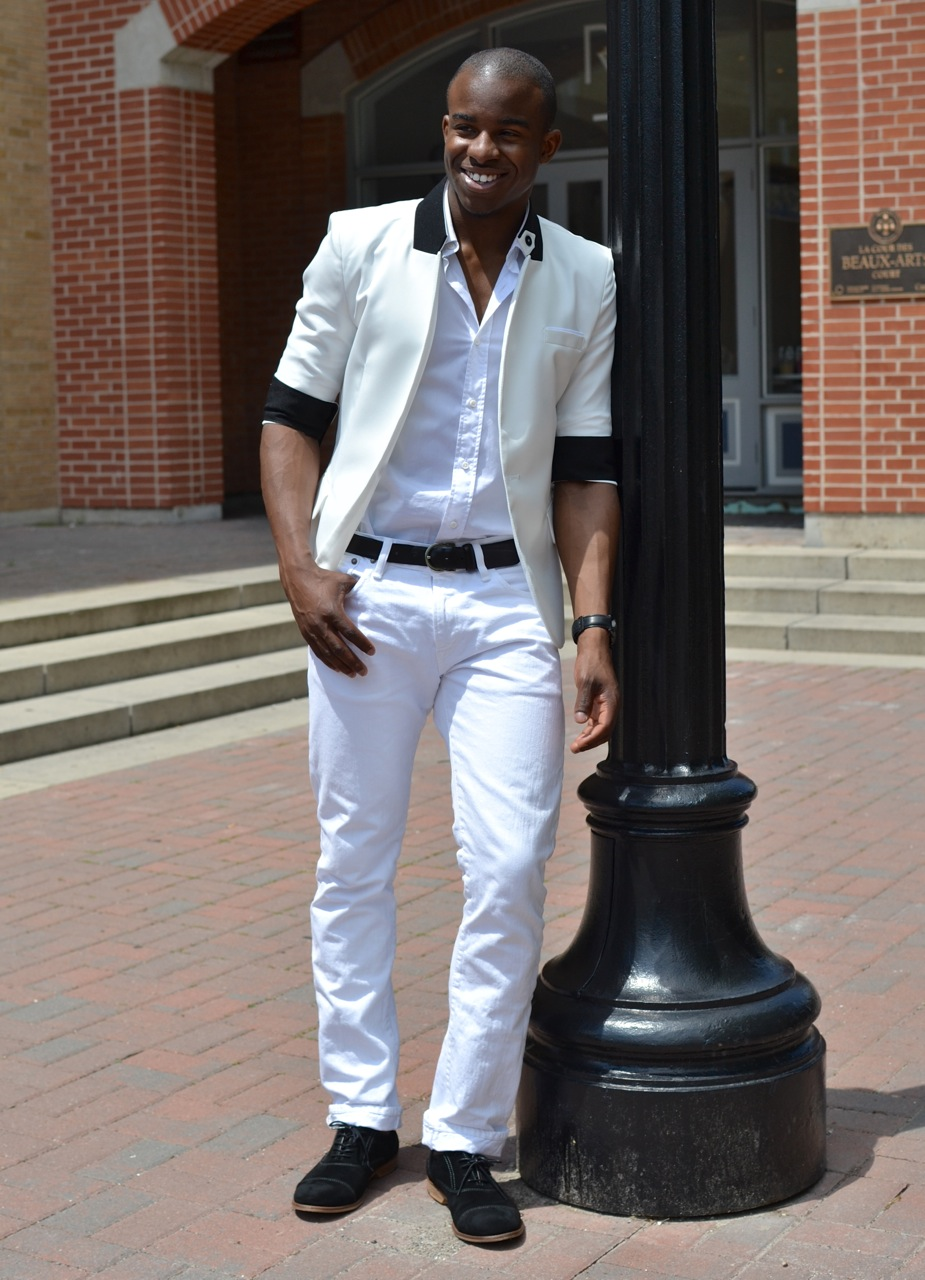 If there's a way to cheat summer style, it's by sticking to a classic outfit that works anywhere and everywhere. A lightweight, casual white button-down from Mr. P gives you a sharp look, without feeling overheated in breathable cotton.