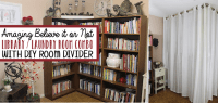 Easy Room Divider for a Gorgeous Global Library Laundry