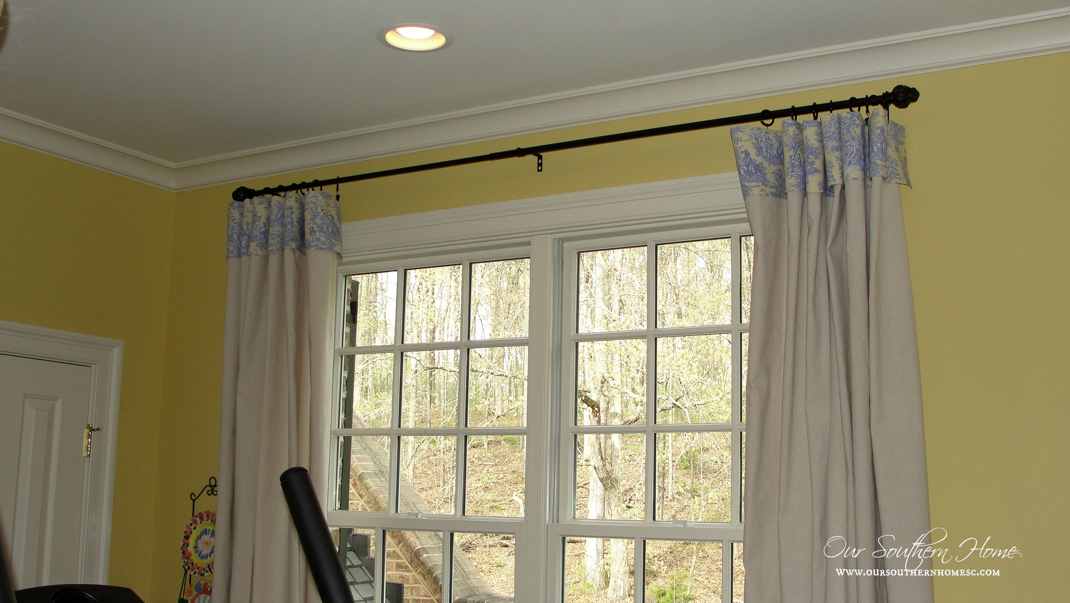 Drop Cloth Curtains Lowes No Sew Drop Cloth Curtains Our Southern Home