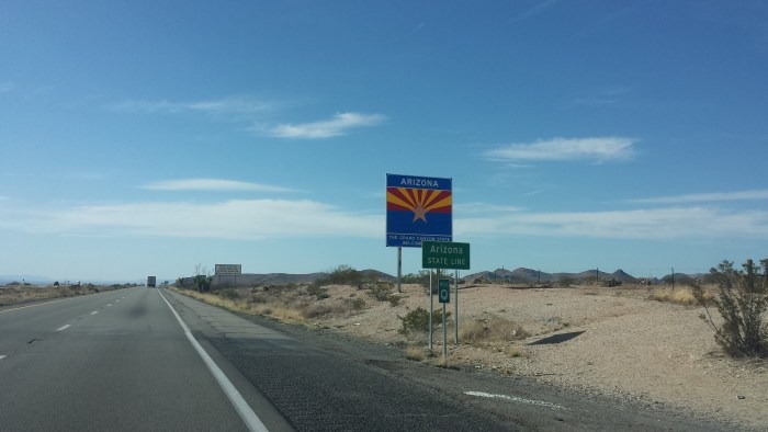 Arizona State Line Our Streamlined Life