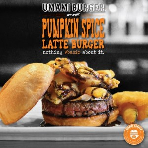 New Pumpkin Spice Latte Burger at Umami Burger