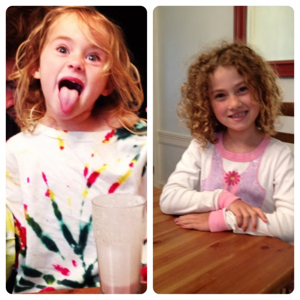 This is what Ella said she would do for her school photo. (she did not keep her word on this)