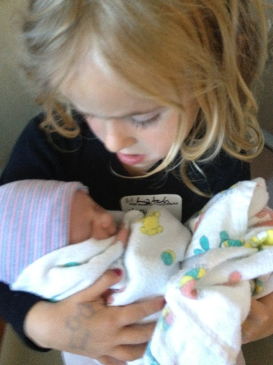 Ella is the best big sister. Protective, kind and loving.