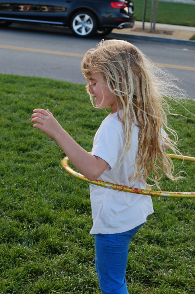 Ella hula hooped for 11 minutes straight.