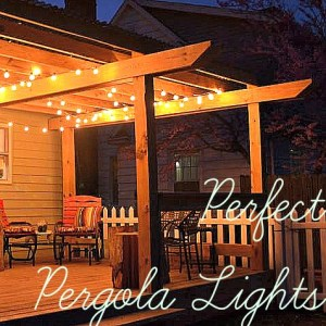 perfect pergola lights