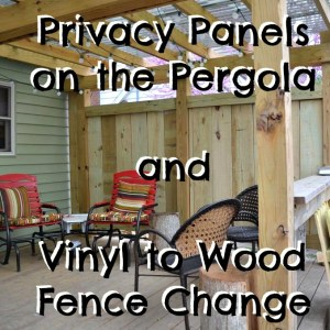 Privacy Panels on the Pergola